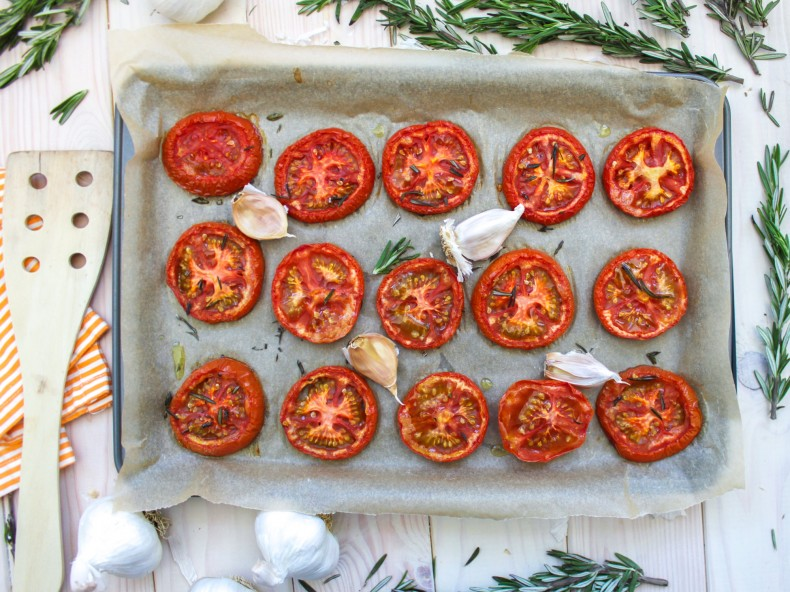 Roasted Tomatoes and Rosemary